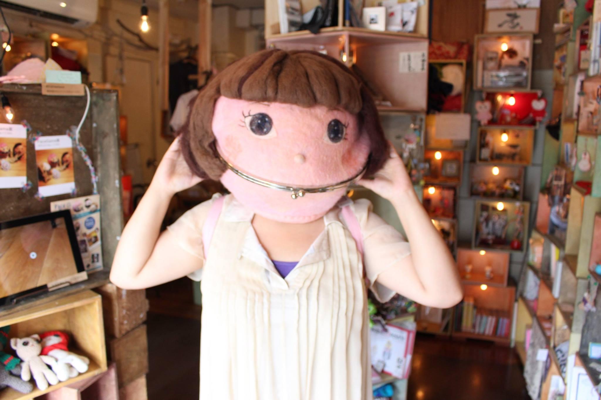 かぶれる人形